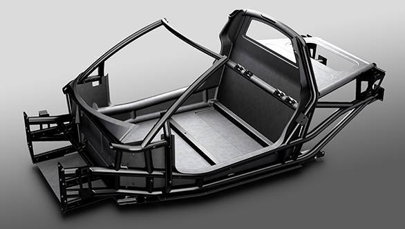 Gordon Murray's iStream process uses a chassis made with steel pipes and bonded fibreglass or carbon fibre
