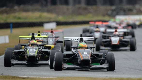 Jehan Daruvala en route his second consecutive race win at the 2016 Toyota Racing Series