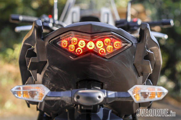 A nice looking rear-end, no? The Kawasaki Versys 650 is just begging for you to add some bags and head out for a long ride