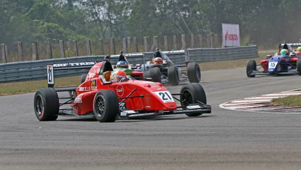 Pietro Fittipaldi en route victory in Race 1 of the season finale of the MRF Challenge in Chennai