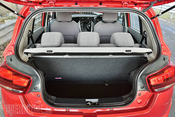 Boot space of 243-litres is more than most budget hatchbacks. The seats tumble to offer a total of 473-litres