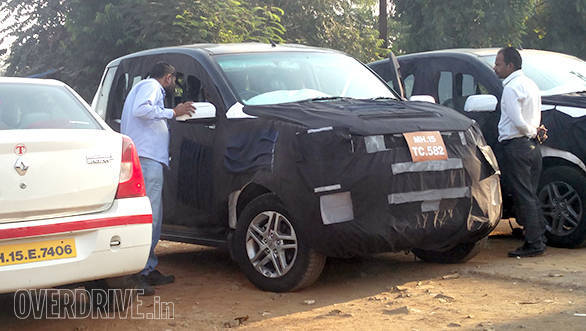 Mahindra Quanto Facelift Spied