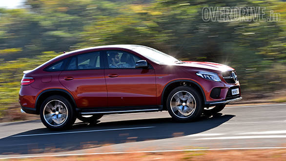 It may weigh 2.2 tonnes but the GLE is fast on its feet