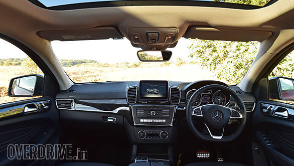 The cabin feels rich and luxurious but the centre console design harks back to the old ML. An update would have been nice