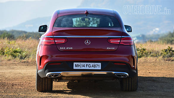 The GLE Coupe's rear end is its most controversial angle. You either love it or loathe it