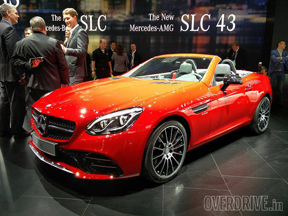 The SLC gets a new face in line with Mercedes' current design language and that lovely diamond grille comes as standard