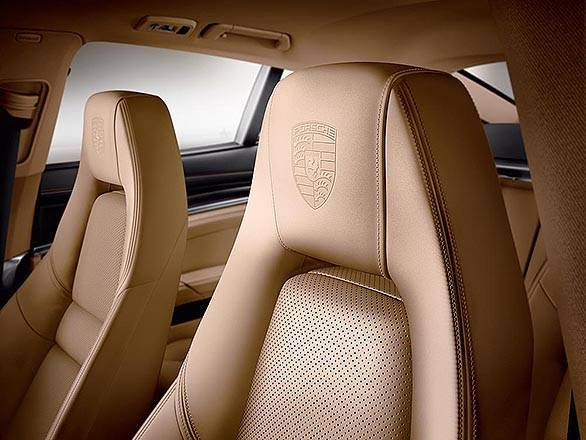The Panamera Edition gets Porsche logos embossed on the headrests