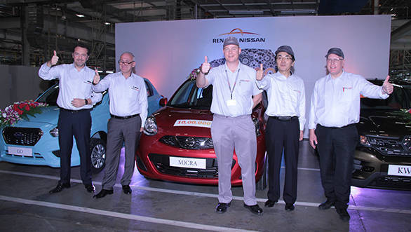 Renault-Nissan Alliance plant in India produces one millionth vehicle