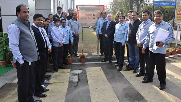 Solar Power Project Inauguration at Yamaha's Surajpur Plant