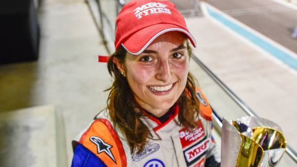 Tatiana Calderon on her championship hopes in the MRF Challenge