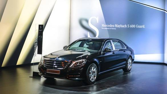 2016 Auto Expo: Mercedes unveils Mercedes-Maybach S 600 Guard