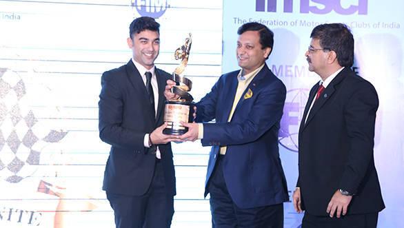 Armaan Ebrahim wins FMSCI Motorsports Man of the Year Trophy