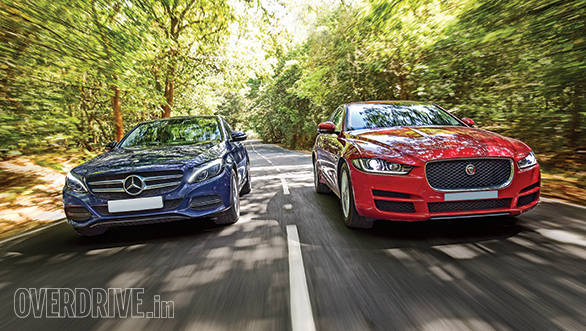 Comparo: 2016 Jaguar XE petrol vs Mercedes-Benz C-Class petrol