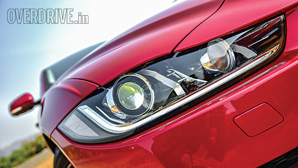 Bixenon headlamps aren't as fancy as Merc's LEDs but very effective