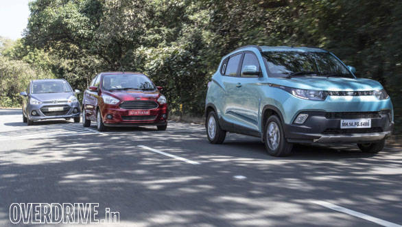 Comparo: Mahindra KUV100 vs Hyundai Grand i10 vs Ford Figo Aspire