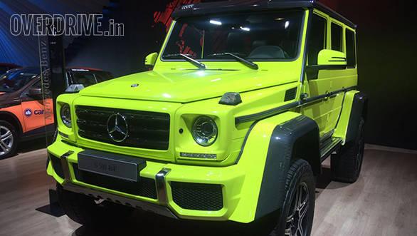 2016 Auto Expo: Mercedes-Benz showcase the G 500 4×4²