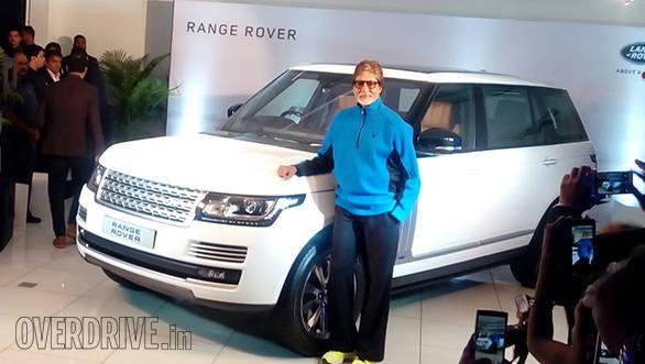 Amitabh Bachchan receives keys to new Range Rover Autobiography LWB