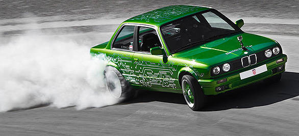 The original BMW E30 M3 that was used a development vehicle - width=