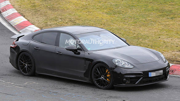 2017 Porsche Panamera caught without camouflage