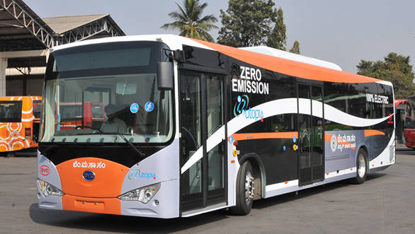 BYD electric bus in Delhi