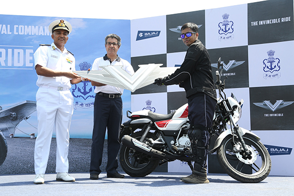 Indian Navy partners with the Bajaj V for an Invincible Ride