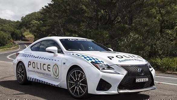 Lexus RC F Australia NSW Police 2