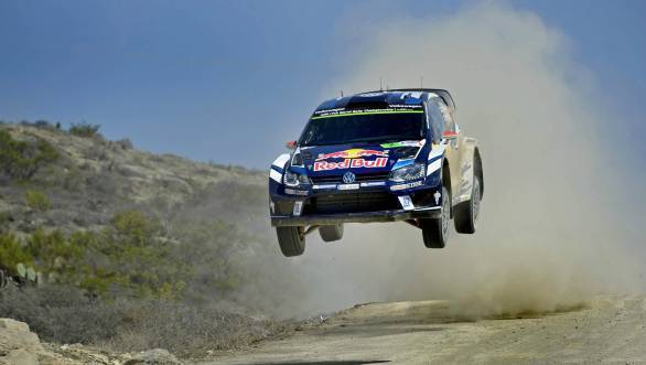 Jari-Mati Latvala on his way to his first win of the 2016 season at Rally Mexico