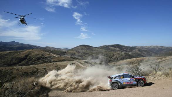Hyundai's Dani Sordo earned a fine third-place finish behind reigning WRC champion Sebastien Ogier