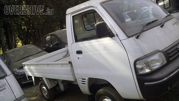Spied: Maruti Suzuki Super Carry Turbo LCV at a dealer stockyard in India