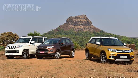 Image gallery: Maruti Suzuki Vitara Brezza vs Mahindra TUV300 vs Ford EcoSport comparo