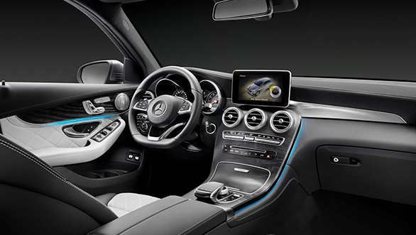 Mercedes Benz GLC Coupe interior production version