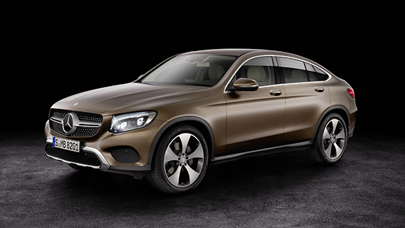 Mercedes Benz GLC Coupe rear production version
