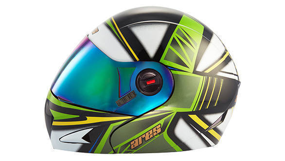 Steelbird Ares A-1 Strokes Black With Green