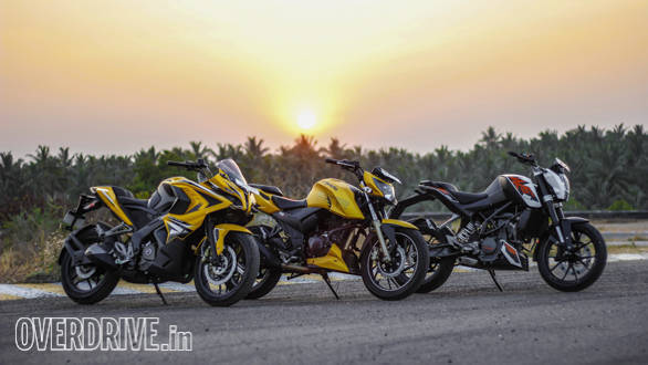 TVS Apache 200, Duke 200, Pulsar RS200 Comparo (116)