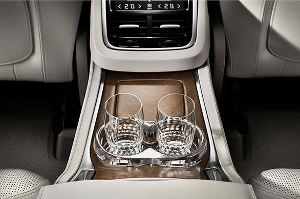 The glasses are handcrafted while the cup holders provide one with hot or cold water depending on the selection