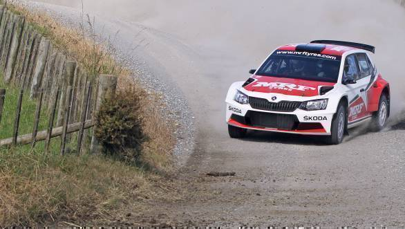 APRC 2016: Gill tops pre-season test in Team MRF Skoda Fabia R5
