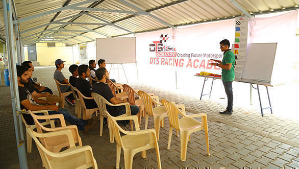 Classroom sessions precede time in the racecar