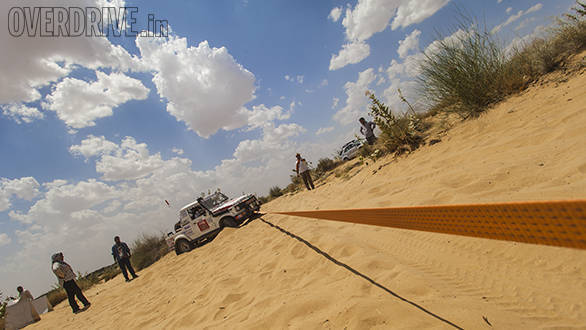 After the first couple of cars went through the dunes, the sand got so loose that one mistake could land you in trouble