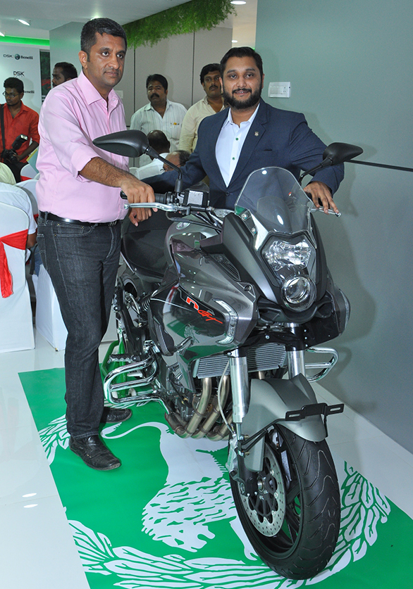 (L-R)Mr. Vigneshwar C. S., Dealer Principal, Coimbatore Showroom and Mr. Shirish Kulkarni, Chairman, DSK Motowheels