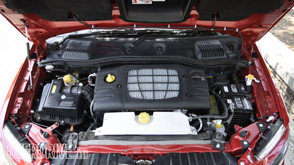 mHawk100 is essentially the same 1.5-litre three cylinder diesel from the Quanto with minor  claimed improvements to refinement