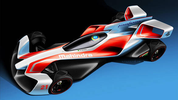 Mahindra Racing and Pininfarina reveal concept designs of Formula E racecar