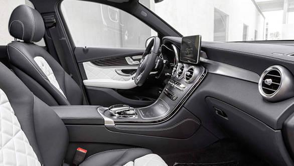 Mercedes-Benz GLC 350e 4MATIC, EDITION 1, SELENITGRAU, Designo Leder Nappa Platinweiß im Interieur  und AMG Line Exterieur Mercedes-Benz GLC 350 e 4MATIC, EDITION 1, Designo, Platinum White Interior