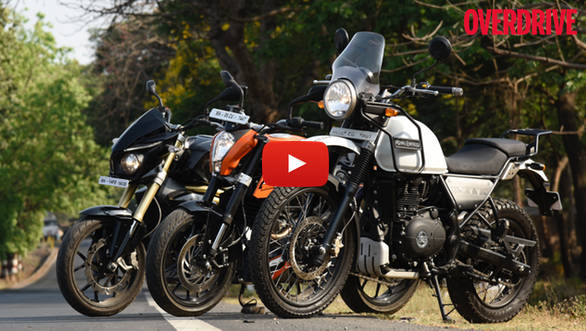 Video: Royal Enfield Himalayan v KTM 200 Duke v Mahindra Mojo