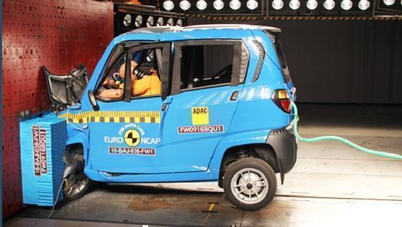 bajaj qute getting a one star euro ncap rating isn t a matter of pride