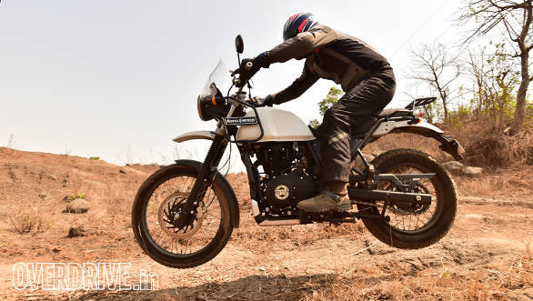 Royal Enfield Himalayan jump action shot