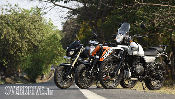 RE Himalayan vs Duke 200 vs Mahindra Mojo Comparo