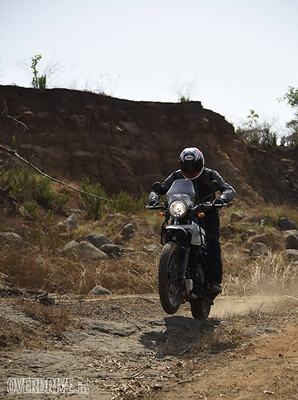 Royal Enfield off-road action shot