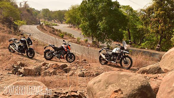 Royal Enfield Himalayan, 2016 KTM 200 Duke and Mahindra Mojo