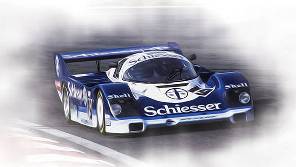 Stefan in the Brun Motorsport Porsche 956, the last car he'd ever race