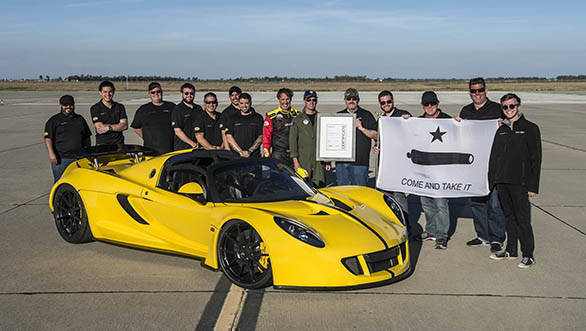 Hennessey Venom GT Spyder at 427kmph is the world's fastest convertible
